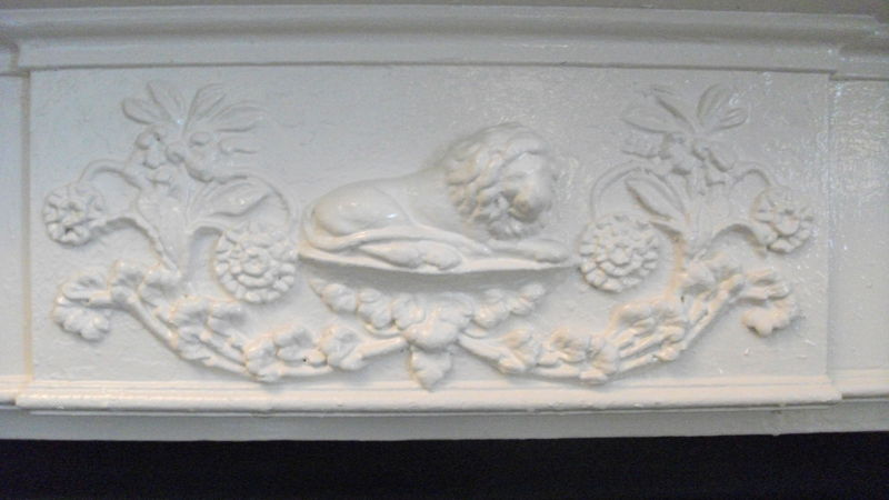 Medium crop wingfield fireplace detail